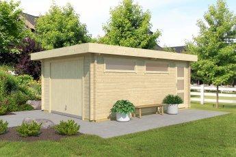 Gartenhaus Lasita Canberra 44 mit Schwingtor