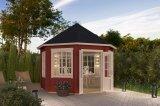 Gartenhaus Jamaica Lichtgrau rot