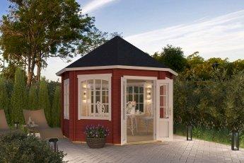 Gartenhaus Lasita Jamaica Schwedenrot