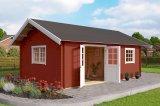 Gartenhaus Caroline Lichtgrau mit Schlafboden rot