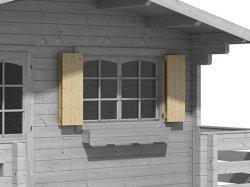 Blockhaus-Fensterläden DF 1290x990mm