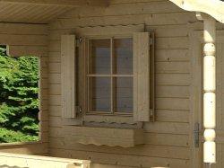 Blockhaus-Fensterläden EF 685x882mm