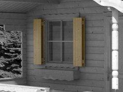 Blockhaus-Fensterläden EF 882x882mm